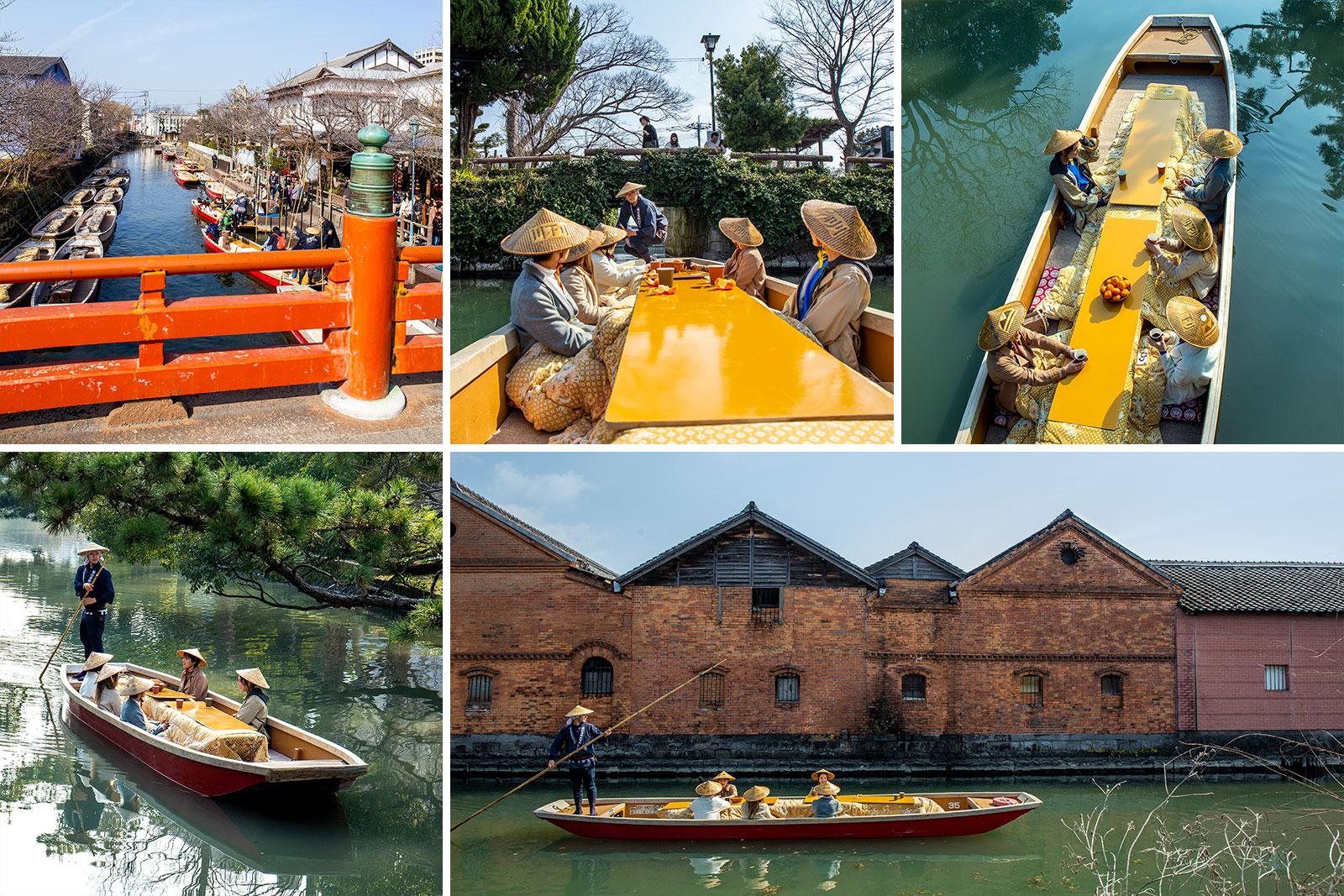 柳川川下りこたつ舟