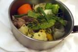 田中さんの捕った仔猪と糸島野菜のボリート