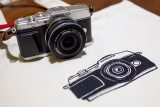 カメラとシルク印刷